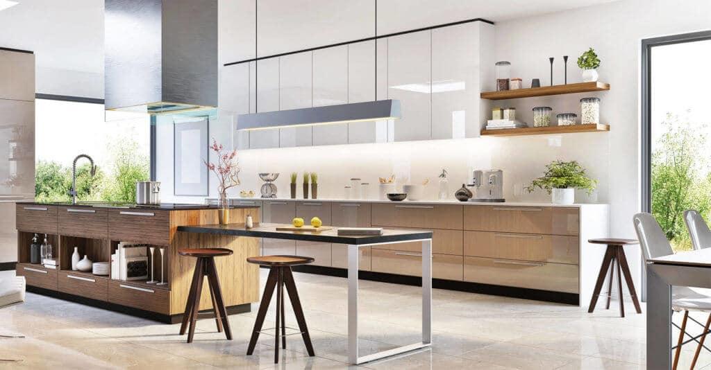 Wohnküche helle Wohnung